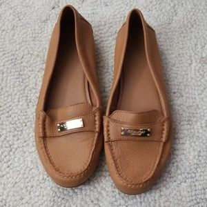 9.5 Coach shoes leather flats